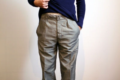 60's French Moleskin pants SAGE color [ DeadStock ]