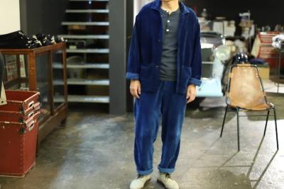 INDIGO Velvet fabric [ story mfg ]